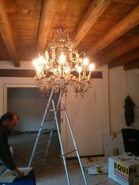 trasloco lampadario murano, imballaggio lampadario murano, deposito custodia mobili treviso
