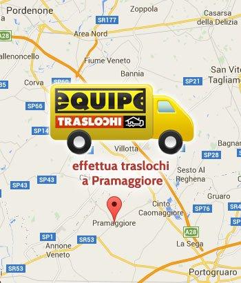 Equipe traslochi effetua traslochi a Pramaggiore e nelle frazioni di Blessaglia, Belfiore, Salvarolo