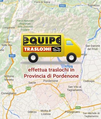 Equipe traslochi effettua traslochi provincia di Pordenone, Pordenone e provincia,